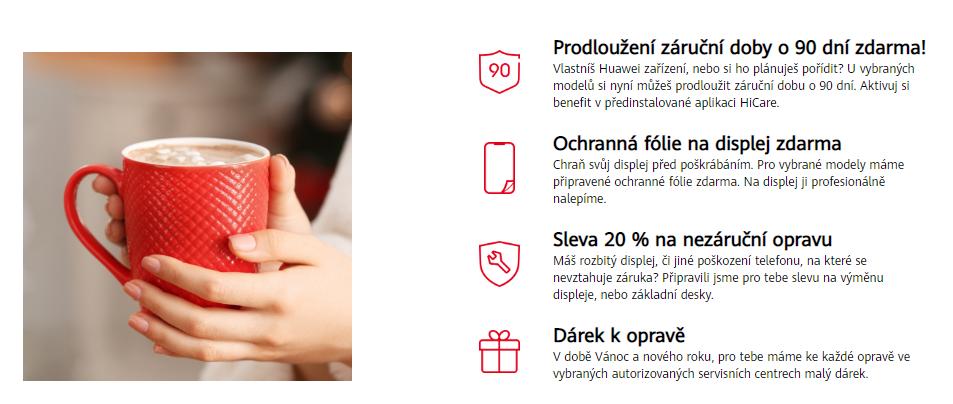 slevová akce na vánoce a nový rok 2020 s Huawei.cz