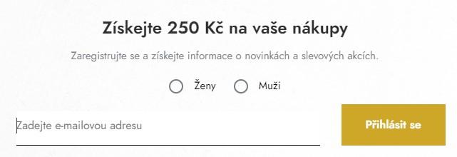 Sleva 250 Kč - Modivo.cz