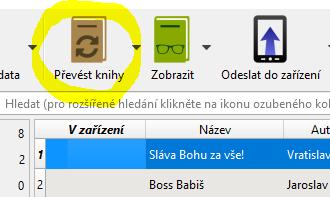 převod ebooku