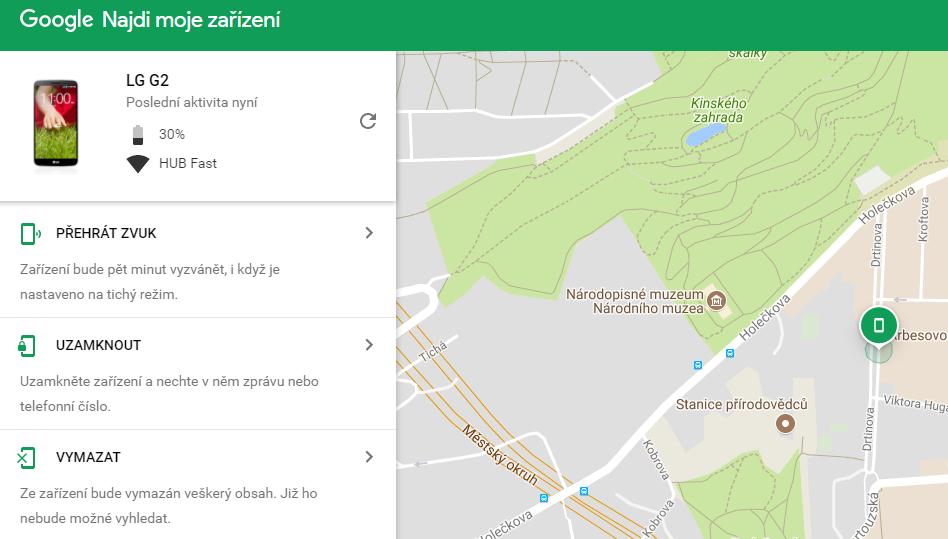 google najdi mobil