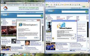 Srovnání okna ve Windows 7 a XP