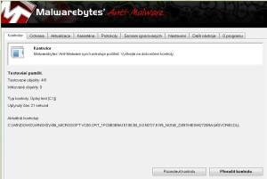 Kontrola v Anti-Malware