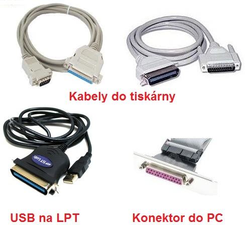 LPT kabely a konektory