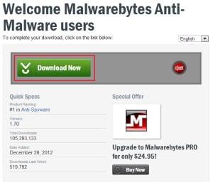 Stažení Malware Bytes Antimalware