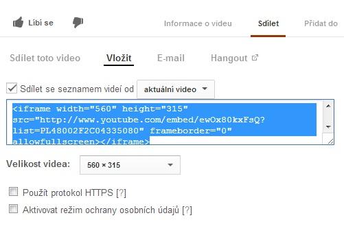 Generování html kódu