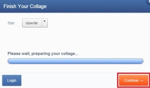 Po kliknutí na tlačítko Finish pokračujte volbou Continue