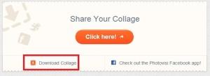Na stránce, která se objeví po stisknutí křížku, zvolte Download Collage