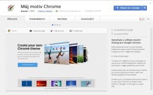 Můj motiv v Chrome Store