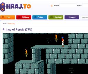 Online verze legendární hry Prince of Persia