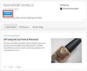 Profil blogu na Bloglovinu