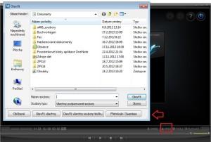 KM Player: otevření souborů