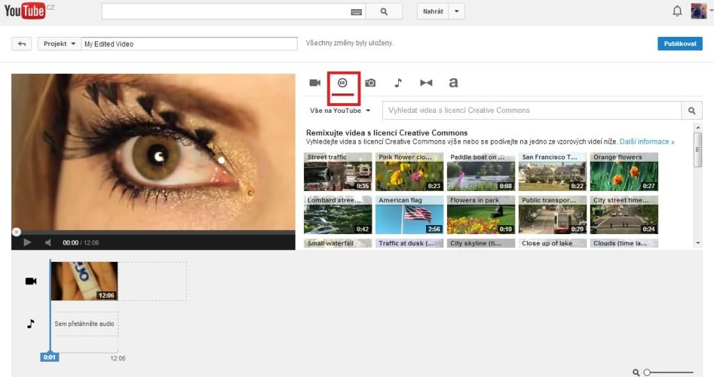 Videa s licencí creative commons