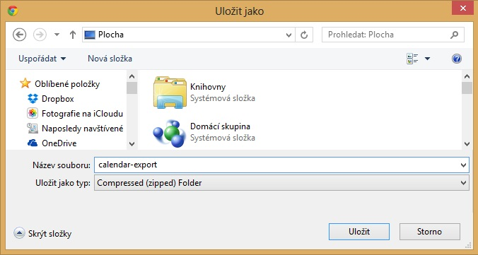 Exportovaný soubor