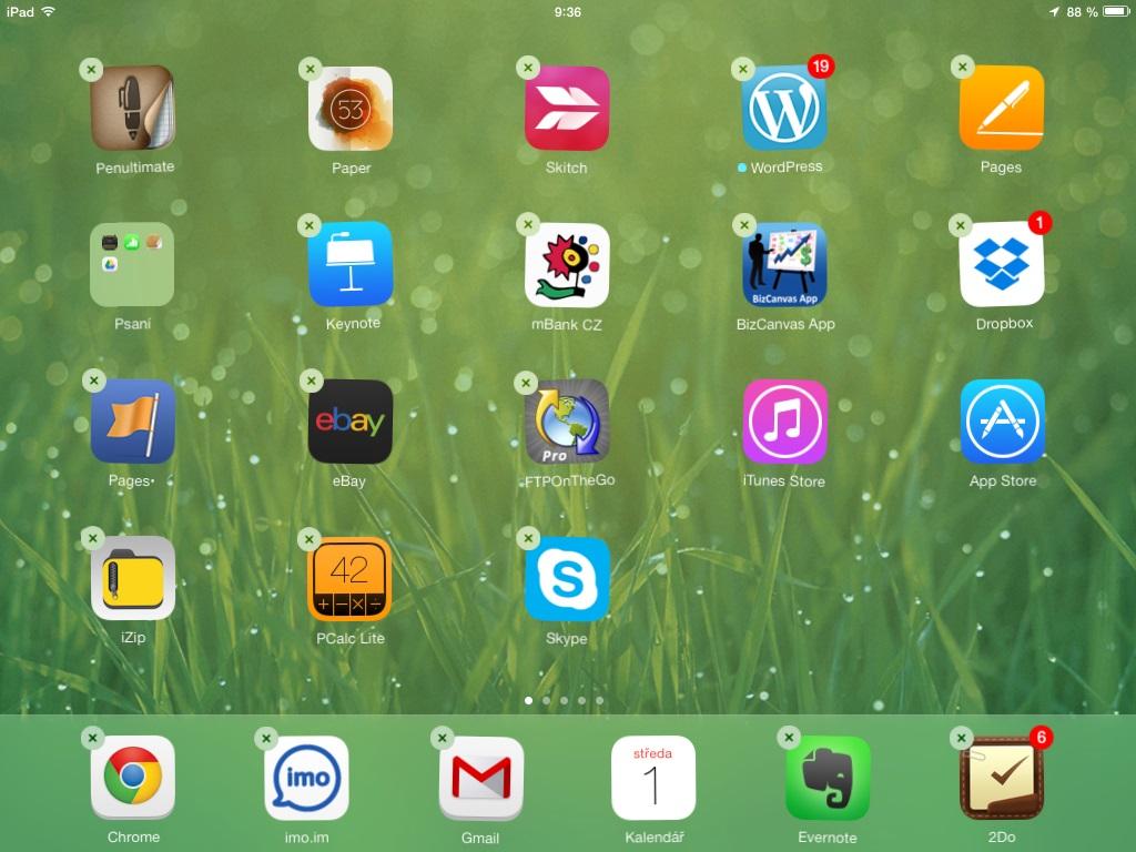 iPad snímek