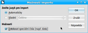Možnosti importu