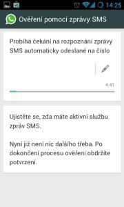 Ověření pomocí SMS