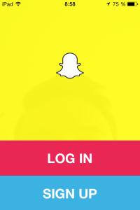 Snapchat - spuštění