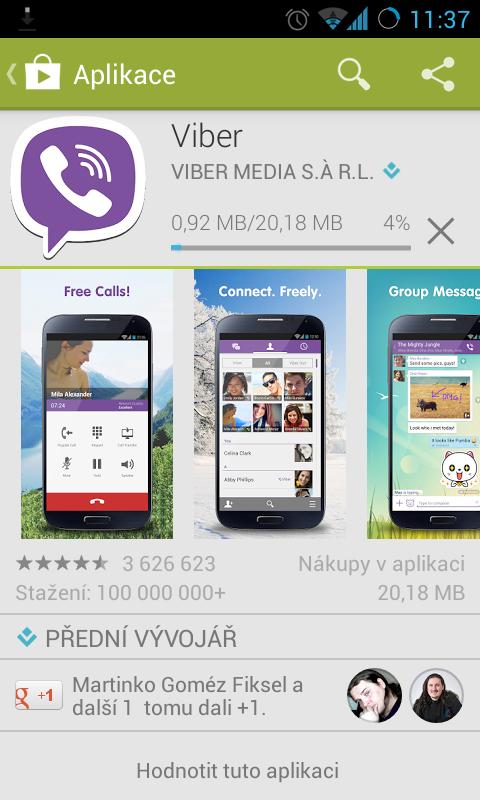 Stahování z Google Play
