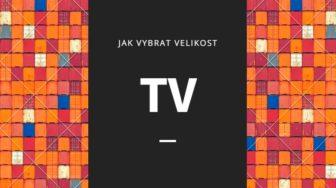 výběr velikosti TV
