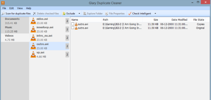glary duplicate cleaner