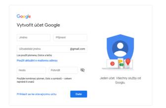 Jak vytvořit Gmail