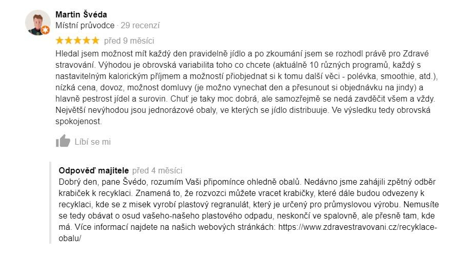 Hodnocení Zdravéstravování.cz