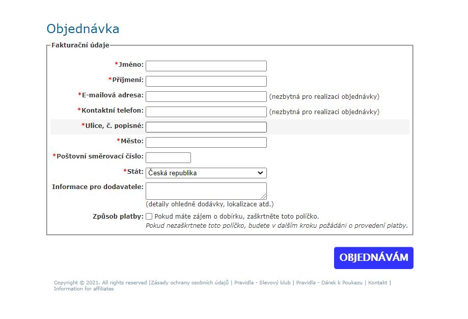 Objednavkovy formulář Somasnella Sleeve